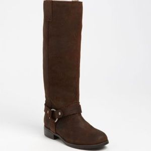 Dolce Vita Brown Suede Leather Riding Moto Boots